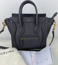 Load image into Gallery viewer, Celine nano luggage in drummed calfskin
