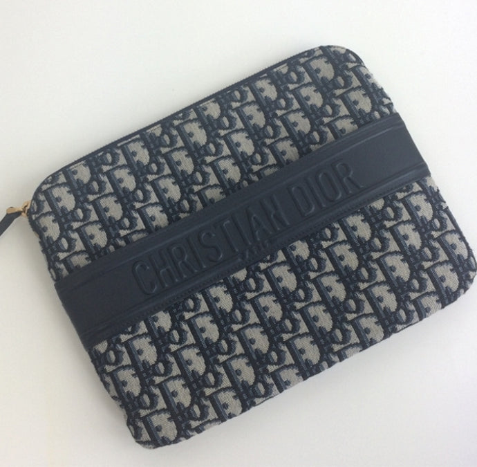 Dior oblique canvas clutch