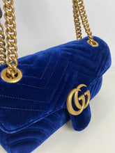 Load image into Gallery viewer, Gucci GG velvet marmont small