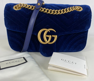 Gucci GG velvet marmont small