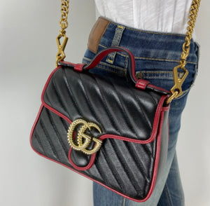 Gucci GG mini marmont top handle