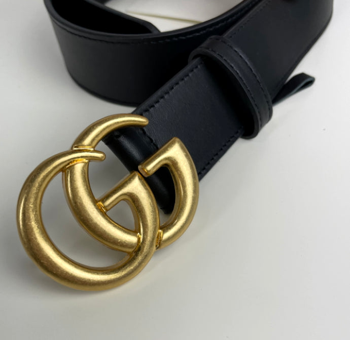 Gucci marmont belt gold shiny size 85