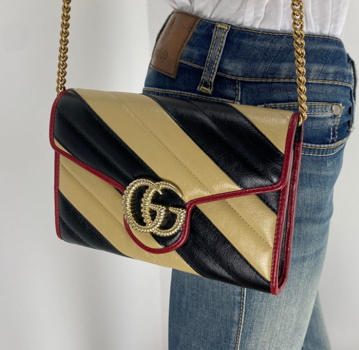Gucci marmont wallet on chain bag