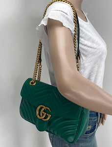 Gucci marmont small matelasse shoulder bag