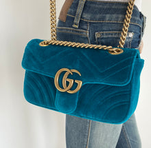 Load image into Gallery viewer, Gucci GG velvet mini marmont