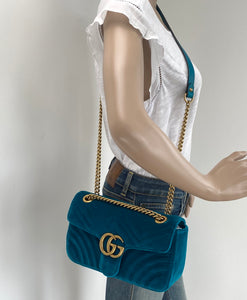 Gucci GG velvet small marmont