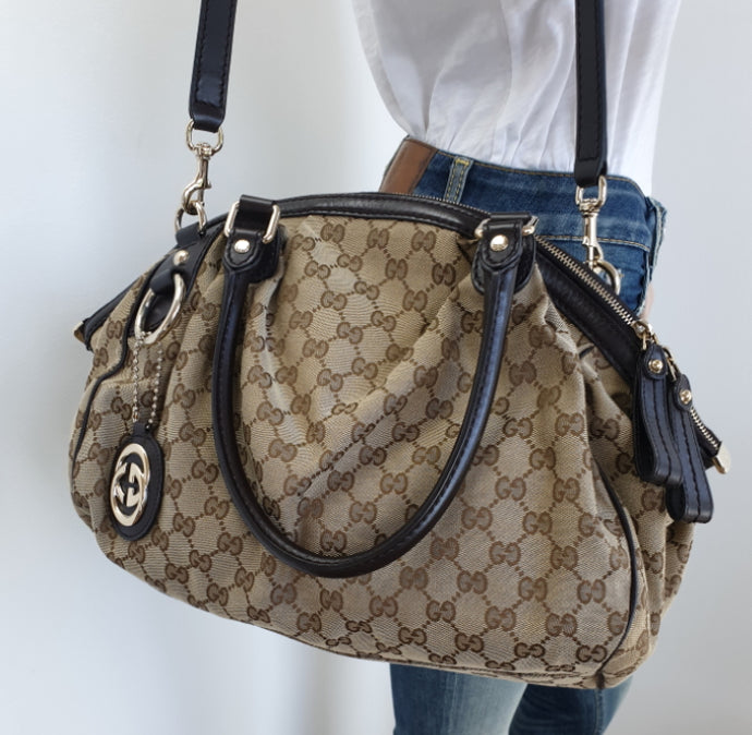 Gucci GG sukey medium boston bag