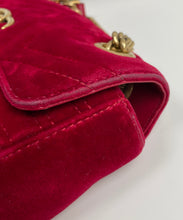 Load image into Gallery viewer, Gucci mini velvet marmont red