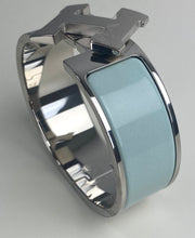 Load image into Gallery viewer, Hermes Clic Clac H palladium wide bracelet