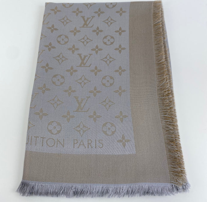 Louis Vuitton shine shawl greige