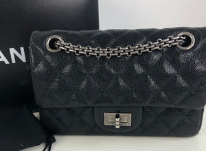 Chanel 2.55 reissue 224 mini double flap in caviar