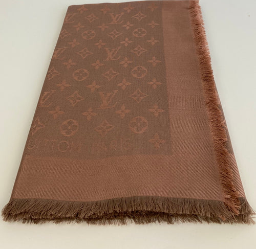 Louis Vuitton monogram shawl in bronze