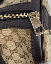 Load image into Gallery viewer, Gucci Vintage Web stripe GG boston bag