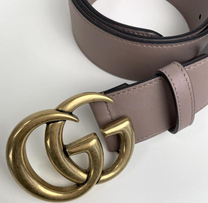 Gucci marmont double G buckle belt size 95 gold