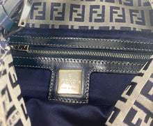 Load image into Gallery viewer, Fendi vintage blue zucca monogram bag