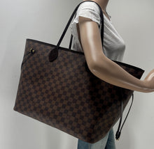 Load image into Gallery viewer, Louis Vuitton neverfull GM damier ebene