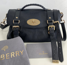Load image into Gallery viewer, Mulberry black alexa satchel