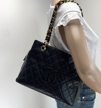 Load image into Gallery viewer, Chanel PST petite timeless shopper tote in caviar