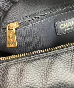 Chanel PST petite timeless shopper tote in caviar