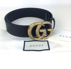 Gucci marmont double G buckle belt size 85 gold