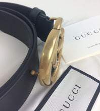 Load image into Gallery viewer, Gucci marmont double G buckle belt size 85 gold