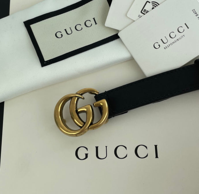 Gucci skinny marmont belt size 95