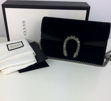 Load image into Gallery viewer, Gucci black velvet super mini dionysus