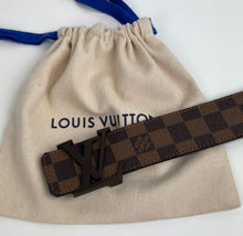 Load image into Gallery viewer, Louis Vuitton initiales belt in damier ebene 40MM
