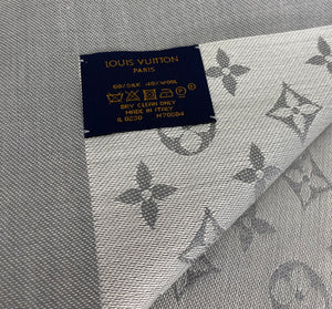 Louis Vuitton denim shawl in pearl grey