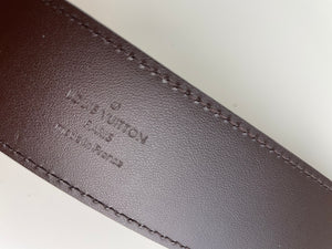 Louis Vuitton initiales belt in damier ebene 40MM