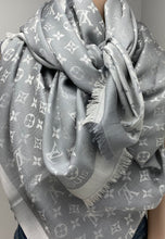 Load image into Gallery viewer, Louis Vuitton denim shawl in pearl grey
