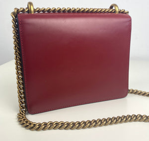 Gucci small marmont small smooth leather bag