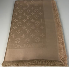 Load image into Gallery viewer, Louis Vuitton monogram shawl in dune