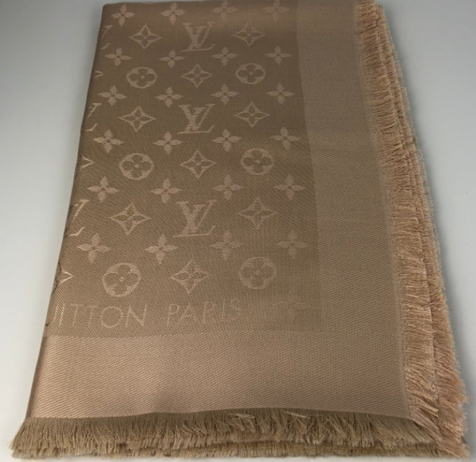 Louis Vuitton monogram shawl in dune