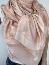 Load image into Gallery viewer, Louis Vuitton denim shawl rosa