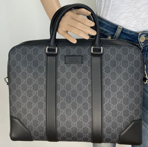 Gucci supreme GG black briefcase