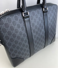 Load image into Gallery viewer, Gucci supreme GG black briefcase