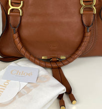 Load image into Gallery viewer, Chloe medium Marcie nude satchel in tobacco