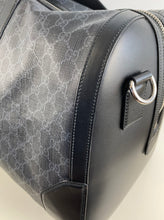 Load image into Gallery viewer, Gucci GG supreme large black carry-on duffle