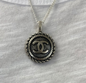 Re-purposed Chanel Vintage button Necklace