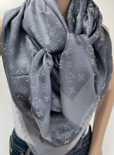 Load image into Gallery viewer, Louis Vuitton monogram shine shawl charcoral grey