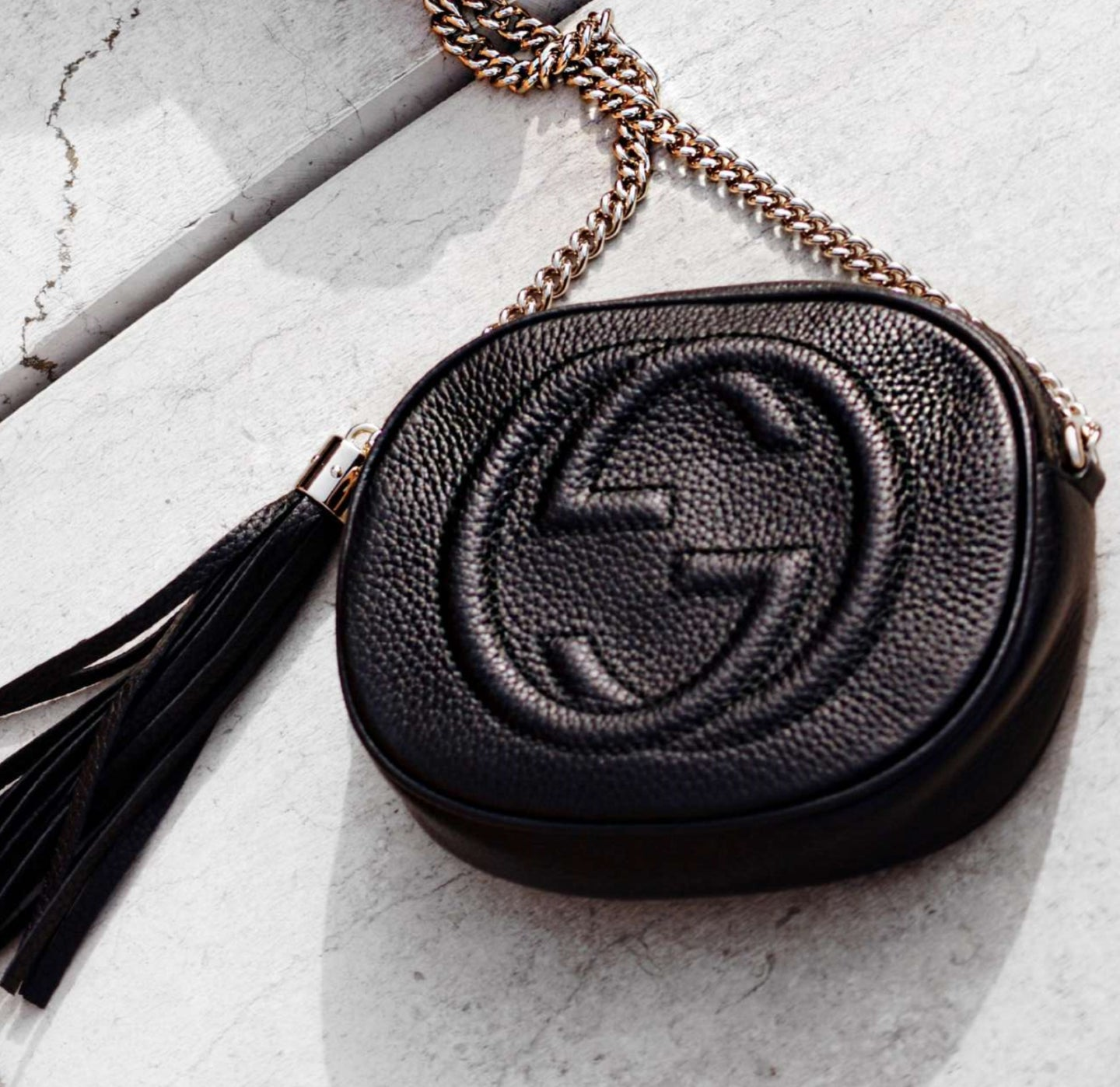 Gucci soho leather mini chain bag