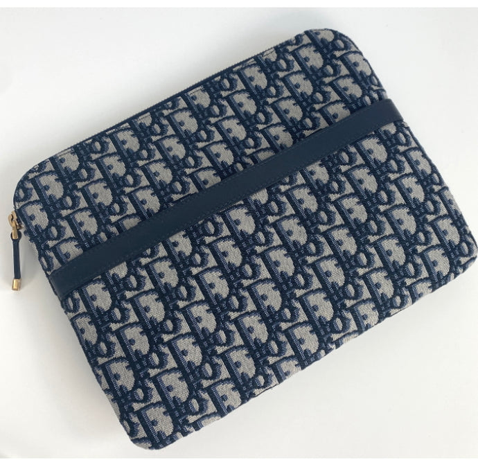 OFFER Dior oblique canvas clutch