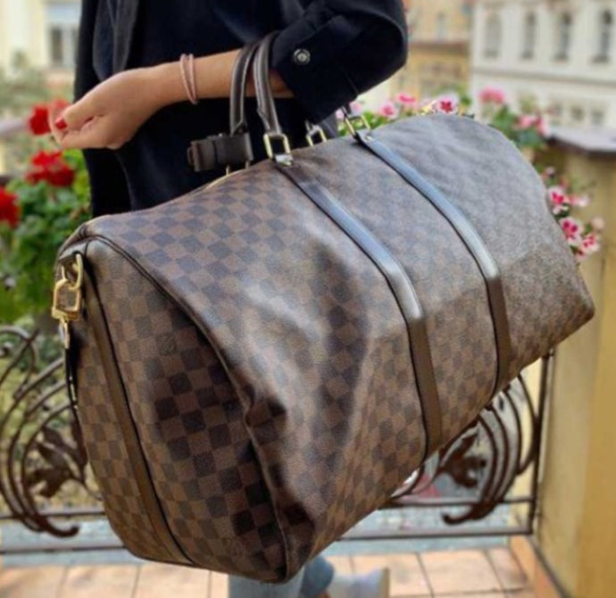 Louis Vuitton keepall bandouliere 55 in damier ebene