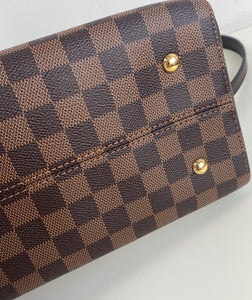 Louis Vuitton kensington bowling bag in damier ebene