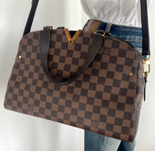Load image into Gallery viewer, Louis Vuitton kensington bowling bag in damier ebene