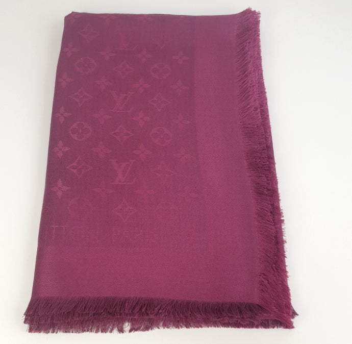 Louis Vuitton monogram shawl wine