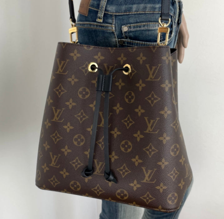 Louis Vuitton neo noe monogram black