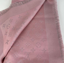 Load image into Gallery viewer, Louis Vuitton monogram shine shawl rose velours