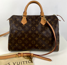 Load image into Gallery viewer, Louis Vutton speedy 30 with crossbody strap 16mm